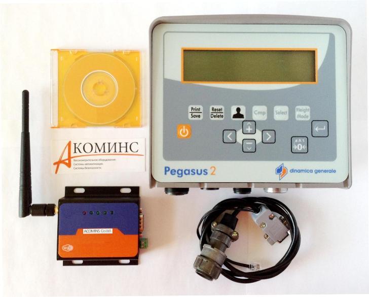 Оборудование для передачи данных с весов Pegasus-2 погрузчика на ПК по GSM